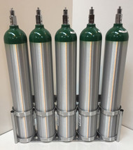 """Inline Oxygen Cylinder Wall Mount for Five D/E  (4.38"""" DIA) Cylinders (7503-5)"""