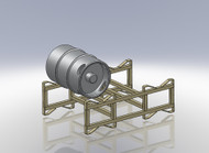 FWF Keg Stand / Wine Barrel - holds Kegs, wine  stack-able