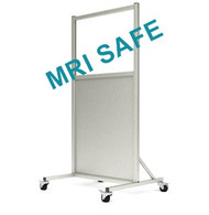 MRI-Safe Mobile Leaded Aluminum Barrier with Window