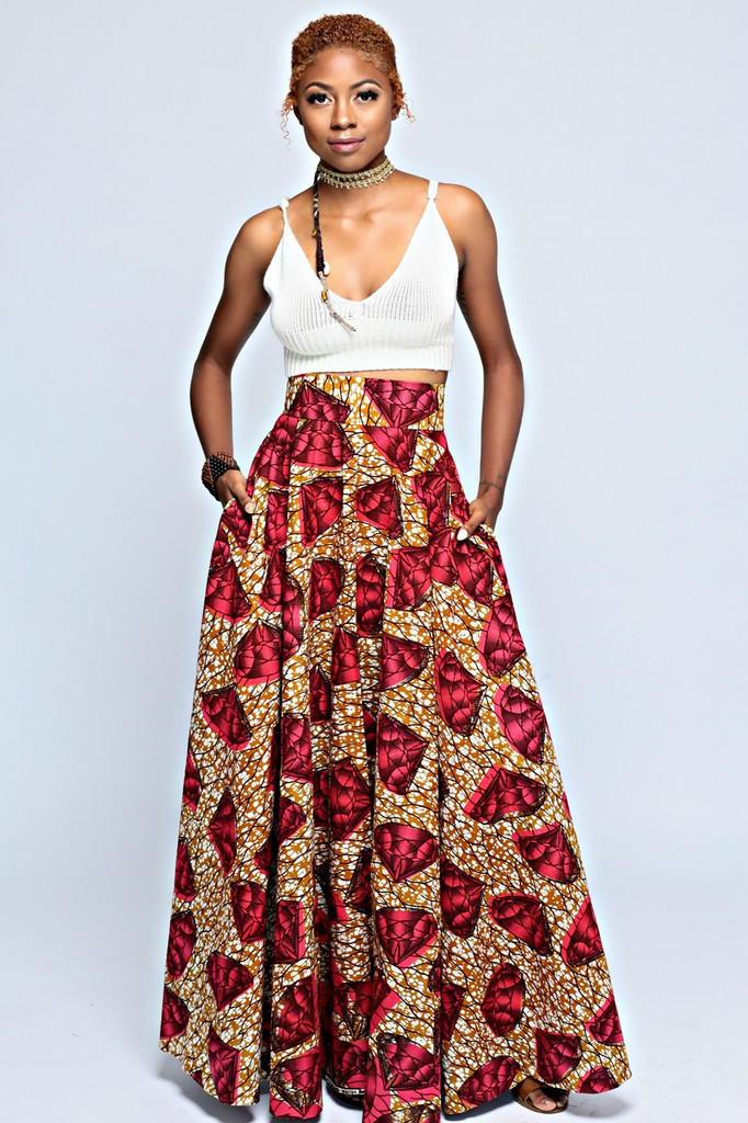 Adaobi Full Flared Skirt