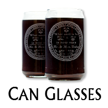 Glass Blasted Artistic Glassware - Can Glasses