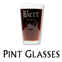 Glass Blasted Artistic Glassware - Pint Glasses