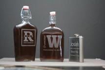 Engraved Groomsmen Gift Custom Large Glass Flask