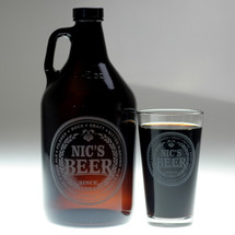 Brewing Beer Names Personalized Growler & Pint Glass Set