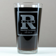 Custom Home Brew Gift   Beer Gift   Engraved Pint Glass   Etched Glassware   Engraved Gift