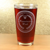 Engraved American Pint Glass with Beer Names