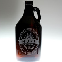 Double oval with middle banner Personalized 64oz Growler