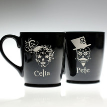 Sugar Skull Personalized Coffee Mugs  | (Set of 2)
