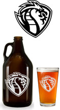Custom listing for Jessica - 6 64oz growler and 6 pints with hockey logo supplied by customer