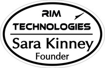 Custom listing for Sara - name tag with Rim Technologies art