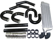 Latest Tube and Fin Design, Diamond-Cut Shape Tube, Better Air Flow, Maximizing Cooling Efficiency  2.0mm Thickness Aluminum Pipe, Mandrel Bent, Black. High Quality.  This is an Universal DIY kit, Might need modification and other items to meet your project needs.  Great for Many Turbo Intercooler Applications.  Tube & Fin Intercooler -Core Size: 22x7x2.25 Inch -Overall Size: 28x7x2.5 Inch -Inlet and outlet sizes: 2.5 Inch
