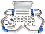 "Tube & Fin Intercooler  -Core Size: 23.5x11.5x2.75 inch  -Overall Size: 30.75x11.75x3 inch  -Inlet and outlet sizes: 3 inch   Great for Many Turbo Intercooler Applications.   Item(s) Included:  -Intercooler x1  -3"" 45 Degree Aluminum Pipe x2  -3"" 75 Degree Aluminum Pipe x2  -3"" Straight Aluminum Pipe x2  -3"" U-Bend Aluminum Pipe x2  -3"" Straight Silicon Hose x6  -3"" 45 Degree Hose x1  -3"" 90 Degree Hose x1  -3"" Stainless Steel T-Clamp x16  -Blow Off Valve x1  -3"" Aluminum BOV Flange Pipe x1  -Vacuum Hose And Accessories"