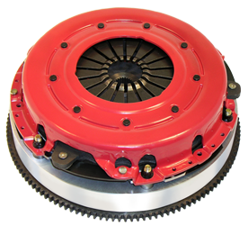 The RAM VDS is a complete clutch and flywheel package. The advantage of the VDS system is that the plate pressure is optimized at the factory and you are able to maintain this pressure level throughout the life of the clutch. VDS clutch systems are available with either steel or aluminum flywheels, and include RAM's 300 series organic clutch disc. The 300 series disc feature their eight-spring hub with urethane-encapsulated springs, and steel backed organic facings. There are several key features of the RAM VDS clutch system. The clutch is set up with maximum clamp pressure from the factory. Stock and aftermarket pressure plates are set up so that the maximum plate load occurs after the clutch begins to wear. VDS is designed so that the clutch pressure can be restored as the clutch disc wears. The VDS clutch pressure can also be reduced if the application dictates less pressure is necessary to control tire spin at launch. The VDS system is designed to be user serviceable in the field. Both the pressure plate and the steel insert on aluminum flywheels are replaceable. Combining this with a new RAM clutch disc makes rebuilding your clutch easy! All RAM VDS clutches are SFI certified for competition in vehicles running 11.99 or quicker in the quarter mile.