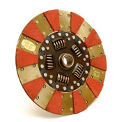 Centerforce Performance clutch discs will work with both Centerforce I and Centerforce II pressure plates. Most of them have a carbon-composite organic friction material for longevity and drivability, as well as positive engagements and excellent heat capacity. These discs are designed to withstand the loadings from high-horsepower engines, but are priced for the everyday driver as well. Input Spline Quantity:26 Input Shaft Diameter:1.125 in. Disc Diameter (in):11.000 in. Disc Diameter (mm):279mm Disc Material:Organic Disc Style:Full face, sprung hub