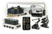 The e-Level™ Air Management Package combines all of the highest quality components available to control your Air Springs in one easy to order part number. This kit includes Accuair's top-of-the-line-e-level™ interface, VU4 4-Corner Valve Manifold, 5-gallon Aluminum Air Tank, Serviceable Aluminum Air Filter, D.O.T. Approved Plumbing Kit, and the most detailed Installation & Operation Manuals on the market. This package contains ALL of the upgrades (please read the product description for more info).