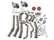 Twin T4 GT35 Turbo, Supports 900-1,000 WHP  Now you can TWIN TURBO your Pontiac GTO/Holden Monaro. The Monaro will fit, the RHD version may require some minor modifications, but it will definitely fit.  Included in this Kit: - T4 GT35 Turbo x2 - 46mm Wastegate x2 - Headers (2 Pcs) - Downpipe - Oil Line Kit  Click for more info...