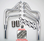 We've done all the trial and error work, so you don't waste time performing unnecessary modifications, or returning parts that don't work together.  The Headers in this section are designed specifically for installing an LS engine into 1968-72 GM A-Body cars (Chevelle, El Camino, GTO, Cutlass, Lemans, Tempest, GS), and are available in a variety of tube lengths and diameters. ALL MUSCLE RODS HEDDERS are available in uncoated mild steel, or with Hedman's original HTC or Husler's NEW BLACK MAXX Ceramic Coating.  This set is uncoated.