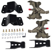 "73-87 C10, 2WD, DELUXE DROP KIT ( 2.5"" DROP SPINDLES, SHACKLES, HANGERS) (LD ROTORS 1"" THICK) Click product description for more details."
