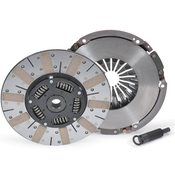 """STREET & COMPETITION PERFORMANCE UP TO 650 HORSEPOWER! Powergrip HD is a true street/strip competition clutch that can survive spirited street driving and roaring race weekends. The main difference between the HD and standard Powergrip is disc surface; both HD friction surfaces are sintered iron. Sintered iron provides enough slippage on launch to prevent the violent, uncontrollable engagement characteristics of metallic paddle-type discs.  Such firm, consistent engagement is easy to control yet expect some chatter from street applications with rear gearing under 3.73. The 8-spring hub features RAM poly-coil damper springs encased in polyurethane for greater load capacity and extended hub life. Units can handle three times the shock load of just the coil spring (standard in all RAM Competition Discs). Kit include disc, pressure plate, alignment tool, and release bearing.  Applications: LS1, LS2, LS3, LS6, and LS7  12"""" Diameter 1-1/8"""" x 26-Spline"""