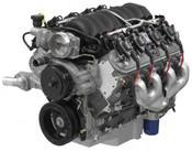 As one of the newest members of the LS engine family, the LS3 6.2L engine has benefited from all of the forward-thinking technology that has kept this engine series at the forefront of modern performance. It was introduced on the 2007 Corvette and debuts in 2009 in the all-new Camaro. The GM Performance Parts LS3 6.2L crate engine is based on the Corvette application, including the oil pan. It comes complete with the ignition system, manifold assembly with injectors and throttle body, exhaust manifolds, water pump, balancer and 14-inch automatic-transmission flexplate.  Inside, the LS3 is filled with components designed for high performance and longevity. The aluminum block is filled with a sturdy reciprocating assembly that combines with L92-type rectangular-port heads to deliver a 10.7:1 compression ratio. A high-lift, hydraulic roller camshaft delivers a whopping 0.551-inch of lift on the 2.165-inch intake valves and 0.522-inch lift on the 1.59-inch exhaust valves. It holds those valves open for 204-degrees of rotation (intake) and 211-degrees (exhaust), respectively, enhancing the LS3's tremendous airflow and table-flat torque curve.