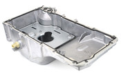 Avoid paying exorbitant dealer pricing of using an oild, worn and yucky oil pan - buy new and keep up with the fresh overall build for your swap vehicle!  Factory oil pan for 2008-2015 Cadillac CTS-V. This oil pan is similar to the 2004-2007 CTS-V oil pan and can still be used for those vehicles, but features extra mounting bosses on the side of the pan for the factory oil cooler. When installing in 2004-2007 cars, it will be necessary to trim down the oil cooler mounting bosses to clear the engine cradle. The pan is a direct bolt on for 2008-2015 cars.