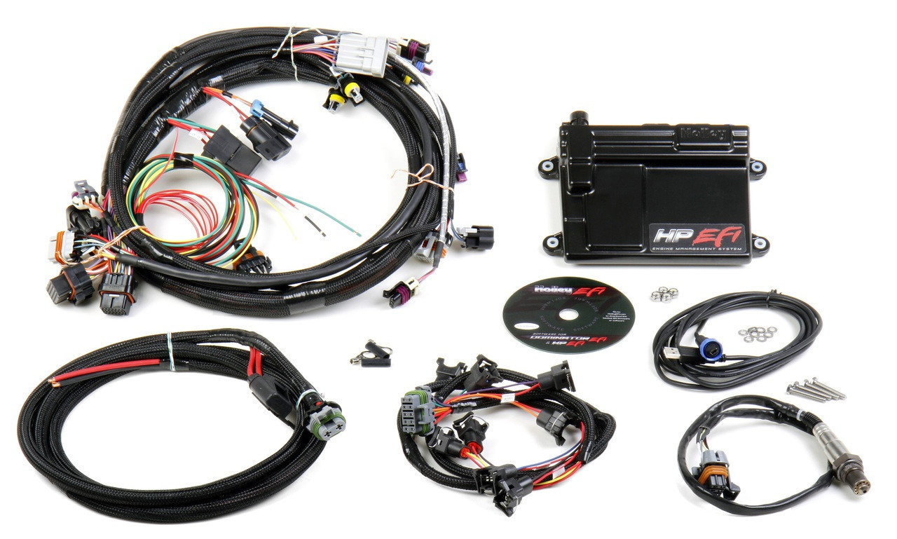 Looking for a plug and play kit for your GM LS engine? The HP ECU allows you to accurately control the fuel and ignition of your engine plus much more! Got a stock LS engine? Simply download a base map and you're on your way. Got a turbocharged, nitrous fed LS engine on water/meth? This HP EFI kit can control that too! Stop re–flashing your factory ECU every time you make a performance modification. Get Holley EFI today! CLICK FOR MORE INFO