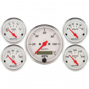AutoMeter has brought together the most popular gauges into a simple kit. The kit includes a speedometer, water temperature, oil pressure, fuel level, and voltmeter. All senders included where applicable.