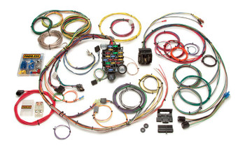 Year: 1967 - 1968  Make: Chevrolet  Model: Camaro, Firebird  Engine: Carbureted or Any Stand Alone Fuel Injection  Trans.: Any   This 24 circuit harness is designed for the 1967 and 1968 Camaro & Firebird. It uses a '69 and newer style bulkhead connector design along with blade fuses and enough circuits to wire up just about any installed upgrade to your 1st generation F-body. Some minor firewall/bulkhead modification required. Factory original quick connect terminals are included for the in dash printed circuit board.  Pre-terminated plugs for a dimmer switch, headlights & headlight switch, blower motor, wiper motor, and turn signal switch. Included with this harness you'll also find a detailed manual and each wire is custom printed with the circuit identification as well as using GM color codes for easy installation.