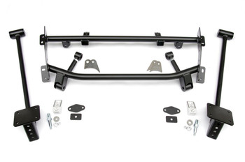 These RideTech Bolt-On 4 Link systems provide a lowered ride height with smooth handling. They include the link bars with rubber bushings, powdercoated brackets, and optional front upper or lower controls arms, depending on the vehicle application. The systems require no welding or cutting, making installation easy! Ideal for lowered suspension with Shockwaves, Airbars or a Hybrid setup of your own!