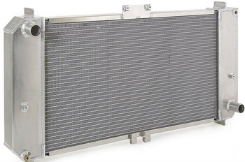 Cool the jets of your Chariot with this Be Cool radiator.   Do you want cooling improvement and performance? During a test, a Be Cool aluminum radiator was installed in a 1955 Chevy in about an hour and lowered its operating temperature from 220 degrees to 180 degrees F--even with the air conditioning going full-blast. Be Cool custom-fit aluminum radiators are designed to be a direct fit, and they feature 15 percent more cooling capacity than factory 4-core models. What's more, they can be used with all brands of antifreeze and are available in both standard and polished finishes.