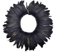 NAVY GATSBY FEATHER COLLAR