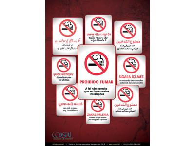 Cartaz proibido fumar