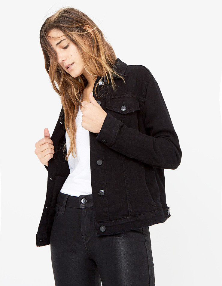 SLIM FIT DENIM JACKET in Sexxy
