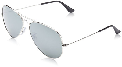 ray ban aviator silver 1fje  Ray Ban Aviator Sunglasses Silver with Chrome Lens RB3025 003/40