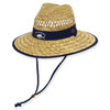 GUY HARVEY RUSH STRAW SAILFISH EMB. COTTON TRIM - BRIM 4""