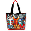 "FOILED ARTISITC SHOULDER TOTE | 20.5"" x 5.5"" x 15"""