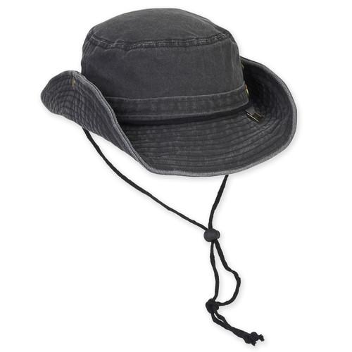 "GUY HARVEY COTTON HAT W/CHIN CORD DRAWSTRING - BRIM 3"""