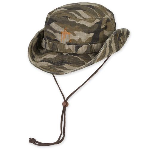 "GUY HARVEY COTTON HAT W/CHIN CORD DRAWSTRING CAMO - BRIM - 3"""