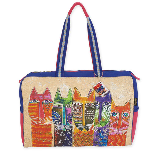 "LONG NECK CATS TRAVEL BAG | 21"" x 8"" x 16"""