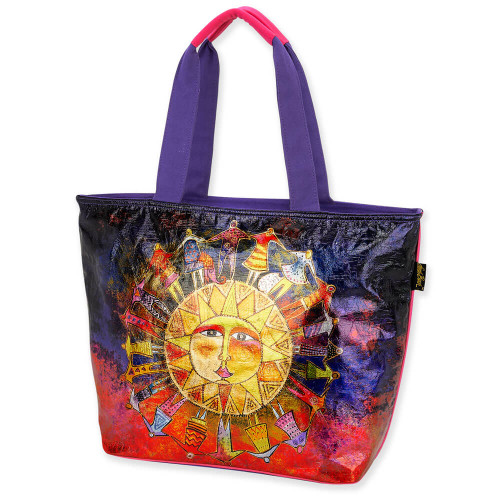Foiled Canvas Harmony Under The Sun Shoulder Tote