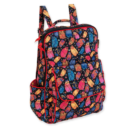 "Multi Feline Backpack   15.75""x 11.75""x 5.75"""