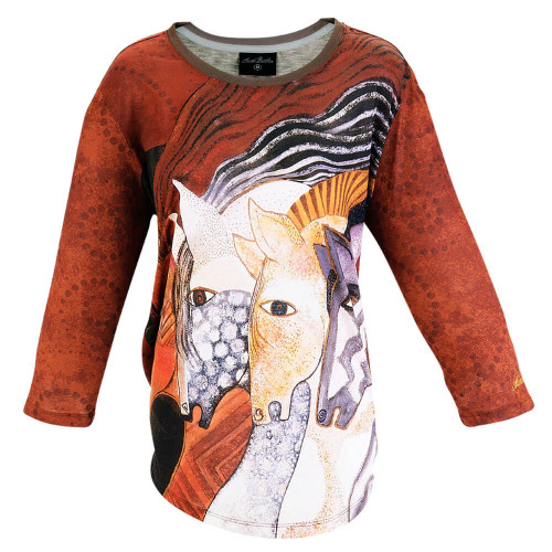 Moroccan Mares 3/4 Sleeve T-SHIRT ($37.00-$42.00)