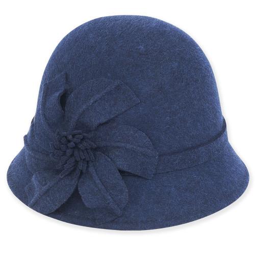 Wool felt Cloche I Navy