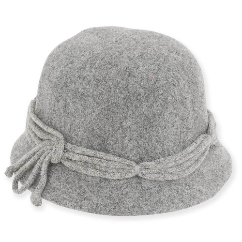 Dawn Wool Felt Cloche | Grey