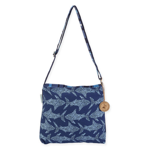"TRIBAL SHARK N/S CROSSBODY | 14"" x 2"" x 12"""