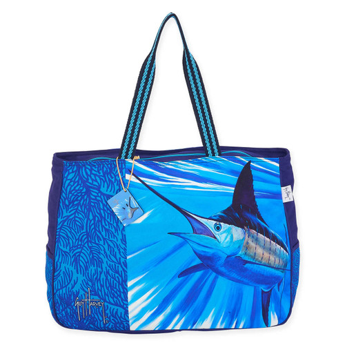 """ABSTRACT MARLIN OVERSIZED TOTE   21"""" x 5.5"""" x 15"""""""