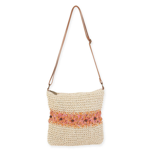 "CROCHET CROSSBODY | ZIPPER TOP | 10.25"" x 10.25"""