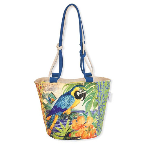 "G.H. PARROT PALACE MEDIUM TOTE | 20.5""x 7""x 15.5"""