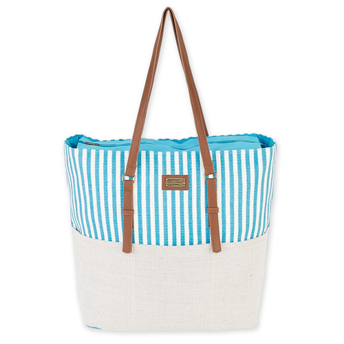 "LARGE COTTON/ CANVAS SHOULDER TOTE | 19.5""x 6""x 15.5"" 