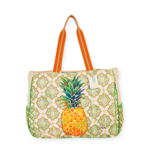 "PINEAPPLE OVERSIZED TOTE | 19.5""x 5.5""x 14.5"""